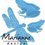 Marianne Design Tiny's Grenouilles et Libellules Matrice de Découpe, Métal, Bleu, 13 x 9,5 x 0,5 cm de la marque Marianne Design image 3 produit
