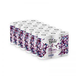 Marque Amazon - Presto! Jumbo Rouleaux de cuisine - Lot de 18 (18 x 80 feuilles triple épaisseur) de la marque image 0 produit