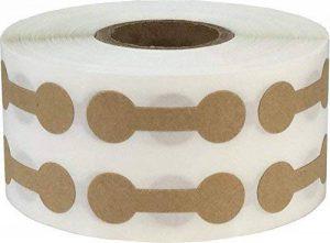 Marron Kraft Marchandise Haltère Bijoux Autocollants, 11 x 33 mm 7/16 x 1 5/16 Pouces Large, 1000 Étiquettes sur en Rouleau de la marque InStockLabels.com image 0 produit