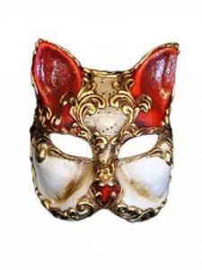 Masque de chat demi-visage vénitien Gatto Arabesque pour femme de la marque Magic of Venezia image 0 produit