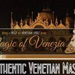 Masque de chat demi-visage vénitien Gatto Arabesque pour femme de la marque Magic of Venezia image 2 produit