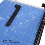 Massicot A3 12 Feuilles(70 g) Cisaille Base Taille Régularisable Cisaille Personnelle Papier ( A3, B4, A4, B5, A5, B6, B7) Machine de Coupe-papier Cutter Bleu de la marque Meditool image 3 produit