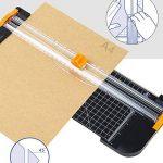 Massicot de bureau A4papier Lot de 25cartes et appareil photo Planche à découper électrique avec protection pour les doigts et lubrifiant Règle Design 80g/SM de la marque OUTEYE image 2 produit