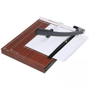 Massicot Rogneuse B4 12 Feuilles Machine de Coupe Papier Taille Régularisable, Rouge de la marque Meditool image 0 produit