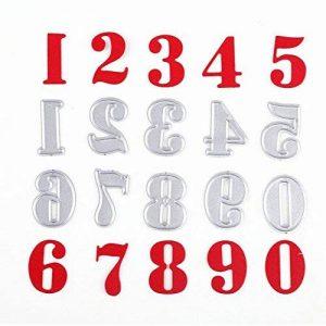 Matrices de découpe Chiffres Numéros U-horizon Cutting Dies Pochoir à découper en métal pour scrapbooking, album photo, carte, papier de décoration, cadeau de la marque U-horizon image 0 produit