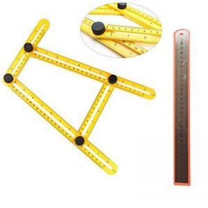 Mc Chenmei Angle-izer Règle de modèle Outil Règle multi-angles en métal (Vis) et acier Règle (30cm) pour Établis Builders Artisans de la marque MC CHENMEI image 0 produit