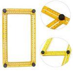 Mc Chenmei Angle-izer Règle de modèle Outil Règle multi-angles en métal (Vis) et acier Règle (30cm) pour Établis Builders Artisans de la marque MC CHENMEI image 1 produit