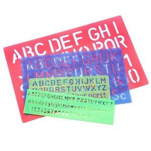 Meetory 4pcs Lettre Numéro Pochoir Gabarit de dessin, plusieurs tailles, couleurs aléatoires de la marque Meetory image 0 produit