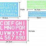 Meetory 4pcs Lettre Numéro Pochoir Gabarit de dessin, plusieurs tailles, couleurs aléatoires de la marque Meetory image 1 produit