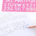 Meetory 4pcs Lettre Numéro Pochoir Gabarit de dessin, plusieurs tailles, couleurs aléatoires de la marque Meetory image 3 produit