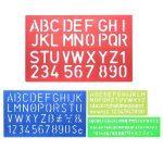 Meetory 4pcs Lettre Numéro Pochoir Gabarit de dessin, plusieurs tailles, couleurs aléatoires de la marque Meetory image 4 produit