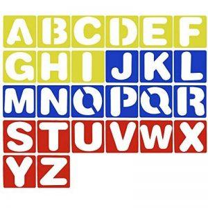 Meetory Sourcingmap Lot de 26Lettres de l'alphabet Pochoirs, guide de Lettrage pour peindre l'apprentissage DIY de la marque Meetory image 0 produit