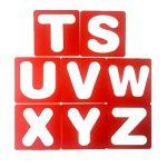 Meetory Sourcingmap Lot de 26Lettres de l'alphabet Pochoirs, guide de Lettrage pour peindre l'apprentissage DIY de la marque Meetory image 2 produit