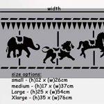 MERRY GO Rond bordure pochoir crèche MURAL MAISON Décoration & loisirs créatifs pochoir peinture murs TISSUS & MEUBLES 190 Mylar réutilisable pochoir - semi transparent pochoir, L/ 25X54CM de la marque Ideal Stencils image 2 produit