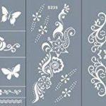 Micro Alimentation Tattoo Patrons pour le corps peints autocollant facilement et réutilisable 5Sheets Set Kaya de la marque Beyond Paradise image 1 produit