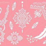 Micro Alimentation Tattoo Patrons pour le corps peints facile autocollant et réutilisable 6Sheet Set Rose de la marque Beyond Paradise image 3 produit