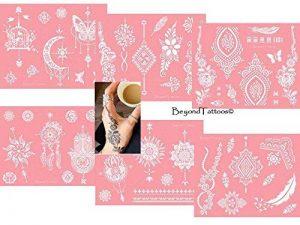 Micro Alimentation Tattoo Patrons pour le corps peints facile autocollant et réutilisable 6Sheet Set Rose de la marque Beyond Paradise image 0 produit