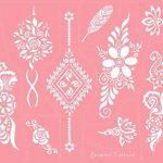 Micro Alimentation Tattoo Patrons pour le corps peints facile autocollant et réutilisable 6Sheet Set Rose de la marque Beyond Paradise image 2 produit