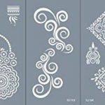 Mikro Filet Tattoo vorlagen Pochoirs pour corps bemalung Autocollant simple et réutilisable 5Sheets Set Mandala de la marque Beyond Paradise image 1 produit