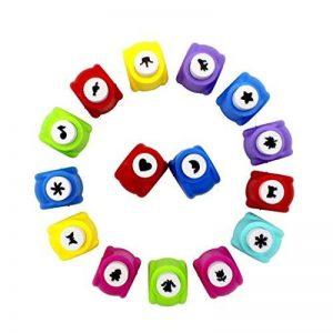Mini perforateurs papier Begrit - Ensemble de 15 perforateurs de 2,5 cm - Motifs en forme de cœur, de papillon ou de fleur - Pour la création de cartes de vœux de la marque BeGrit image 0 produit