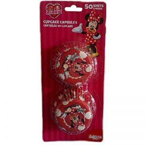 Minnie 339005 Pack de 50 Caissettes Cupcakes Papier Rouge 5 x 5 x 3 cm de la marque Minnie image 0 produit