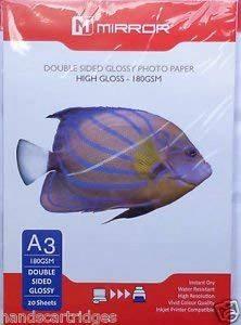 Miroir double face 20feuilles papier photo brillant 180g/m² A3 de la marque handscartridges image 0 produit