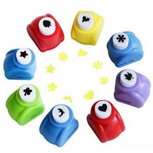 MKISHINE lot de 8 Mini perforatrices,8 différentes formes,perforeuses à motifs pour le scrapbooking,personnaliser des cartes pour les enfants de plus de 6 ans de la marque image 0 produit