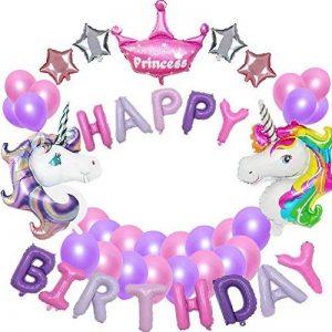 MMTX Birthday Party Decorations fournitures, joyeux anniversaire Ballon Banner, 10 pièces Helium Foil et 12 pcs Latex Party Ballons pour fête d'anniversaire garçon fille, bébé douche (bleu) de la marque MMTX image 0 produit