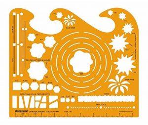 Modèle De Paysage Rédaction Et La Conception Des Modèles Pochoir Symboles À L'Échelle De Dessin Technique 01:50 Template de la marque LINOGRAPH image 0 produit