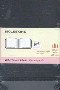 Moleskine Carnet aquarelle Format de poche Couverture rigide noire 9 x 14 cm de la marque Moleskine image 0 produit
