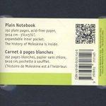 Moleskine Carnet blanc Format de poche Couverture souple noire 9 x 14 cm de la marque Moleskine image 1 produit
