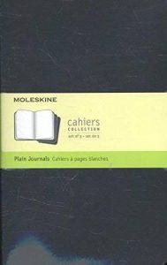 Moleskine Set de 3 cahiers pages blanches Grand format Couverture souple 13 x 21 cm Noir de la marque Moleskine image 0 produit