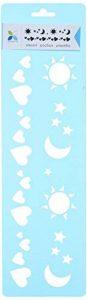 Momenta Pochoir cœurs soleil lune étoiles, acrylique, multicolore, 10cm x 35,5cm, lot de 6 de la marque Momenta image 0 produit