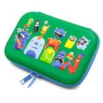 Monstres d'école garçons Glossy Trousse – Enfants tout-petits Grande coloré Pen Holder Box avec Compartment- Cool Organiseur de papeterie Sac Green de la marque SOOCUTE image 2 produit