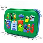 Monstres d'école garçons Glossy Trousse – Enfants tout-petits Grande coloré Pen Holder Box avec Compartment- Cool Organiseur de papeterie Sac Green de la marque SOOCUTE image 1 produit