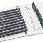 Morkia Bullet Journal Pochoirs, 10 Fineliner Ensemble de Crayons de Couleur avec 12 Pochoirs à Dessin pour la Création de Cartes de Journalisation, Scrapbooking, DIY et Projets Artistiques de la marque Morkia image 1 produit
