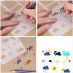 Morkia Bullet Journal Pochoirs, 10 Fineliner Ensemble de Crayons de Couleur avec 12 Pochoirs à Dessin pour la Création de Cartes de Journalisation, Scrapbooking, DIY et Projets Artistiques de la marque Morkia image 3 produit