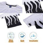 Mr.LQ T-Shirt Manches Courtes Mens Polyester 3D Impression Octopus Tentacules Mode Été Confortable de la marque Mr.LQ image 3 produit