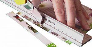 Métal Artisanat Règle 45cm (45,7cm) Craft Mesures de sécurité | papier, tissu, cuir, scrapbooking, Quilting | Prend en charge de mesure et de coupe DIY Art projets et travaux manuels de la marque Imperial Global Ltd image 0 produit