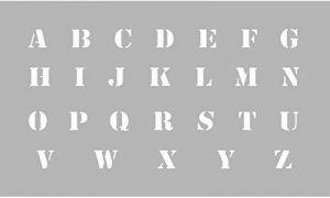 MTD Pochoir Alphabet hauteur lettres 13 mm - Graine créative de la marque MTD image 0 produit