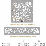 Mysuru indien Pochoir–Meubles Mur Sol Pochoir pour peindre–Meubles Grande de la marque Dizzy Duck Designs image 1 produit