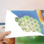 Namaste Lotus Fleur Pochoir - Carton ou plastique - A3 42 x 29,7cm - Fleurs de lotus largeur 24cm - peinture, artisanat, mur, pochoir meubles - enfants réutilisables amical (Plastique) de la marque QBIX image 3 produit