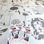 NAUTIQUE nurserie étoile pochoir nurserie MURAL DE MAISON Décoration & artisanat pochoir peinture murs Fabrics & Meuble 190 Mylar réutilisable pochoir - demi transparent pochoir, S/17X17CM de la marque Ideal Stencils image 5 produit
