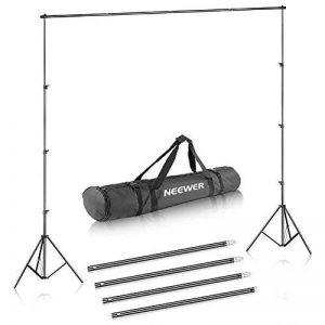 Neewer® Support de fond 2,6m x 3m/8.5ft x 10m en kit avec étui de transport pour toiles de fond, papier et toile de la marque Neewer image 0 produit