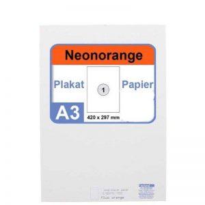 Neonpapier 100 x a3 de papier de couleur orange fluo orange fluo de la marque Faxland image 0 produit