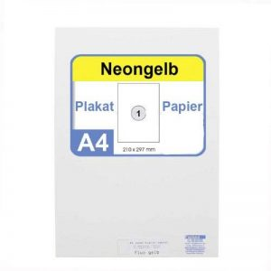 Neonpapier 100 x a4 de papier de couleur fluo/jaune fluo/jaune fluo de la marque Faxland image 0 produit