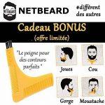 NETBEARD – Pack Premium Barbu Complet – Edition 2018 améliorée - Tablier à barbe avec Double Peigne (pochoir) à barbe pour un rasage propre et précis ! Cadeau original et idéal pour homme barbu. Equipez-vous ou offrez le ! de la marque NETBEARD image 3 produit