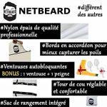 NETBEARD – Pack Premium Barbu Complet – Edition 2018 améliorée - Tablier à barbe avec Double Peigne (pochoir) à barbe pour un rasage propre et précis ! Cadeau original et idéal pour homme barbu. Equipez-vous ou offrez le ! de la marque NETBEARD image 4 produit