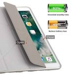"New iPad 9.7 2017 Case, New iPad 9.7 2018 Case, Maetek Origami Smart Slim Cover, 3D Designed with Muti-Angle Stand Auto Wake/Sleep Function Soft TPU Back for New iPad 9.7"" 2017/2018 Model, Grey de la marque MAETEK image 1 produit"