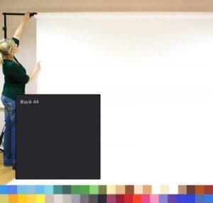 Noir Studio photo Fond papier, 2.72m de large (9') x 11m de long (36'), 180g/m² Fond. Offre spéciale–4pour le prix de 3 de la marque Creativity Backgrounds 9' Wide image 0 produit